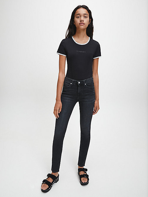 CALVIN KLEIN JEANS CKJ 011 Mid Rise Skinny Jeans - STOCKHOLM BLACK - CALVIN KLEIN JEANS SKINNY JEANS - main image 1