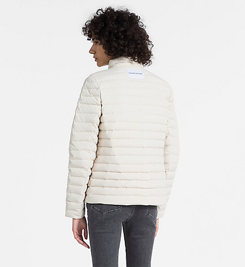 CALVIN KLEIN JEANS Reversible Down Puffer Jacket - OATMEAL - CALVIN KLEIN JEANS CLOTHES - detail image 1