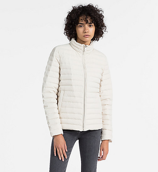CALVIN KLEIN JEANS Reversible Down Puffer Jacket - OATMEAL -  CLOTHES - main image