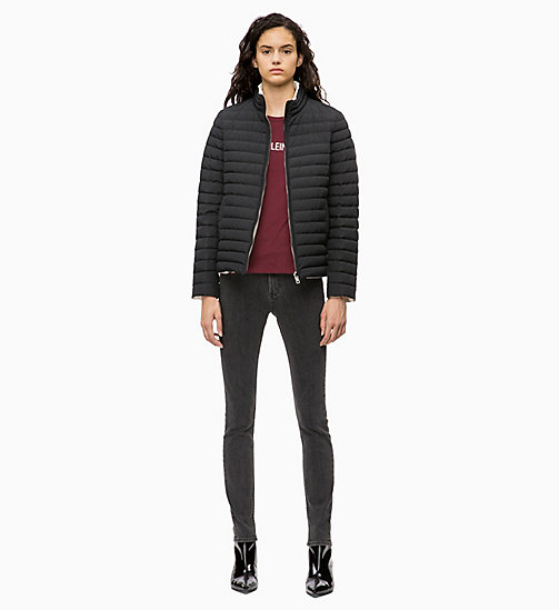 CALVIN KLEIN JEANS Reversible Down Puffer Jacket - CK BLACK /  EGRET - CALVIN KLEIN JEANS IN THE THICK OF IT FOR HER - detail image 1