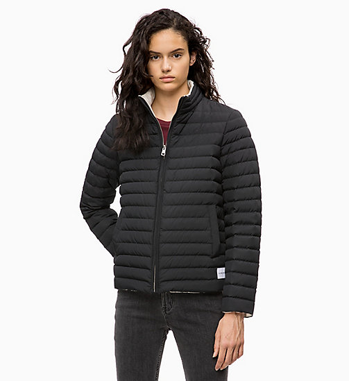 CALVIN KLEIN JEANS Reversible Down Puffer Jacket - CK BLACK / EGRET - CALVIN KLEIN JEANS IN THE THICK OF IT FOR HER - main image