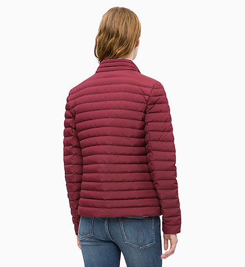 CALVIN KLEIN JEANS Reversible Down Puffer Jacket - TAWNY PORT / EGRET - CALVIN KLEIN JEANS JACKETS - detail image 1