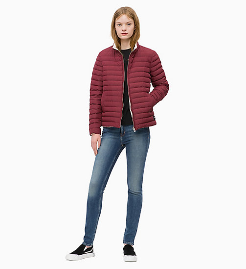 CALVIN KLEIN JEANS Reversible Down Puffer Jacket - TAWNY PORT / EGRET - CALVIN KLEIN JEANS CLOTHES - detail image 1