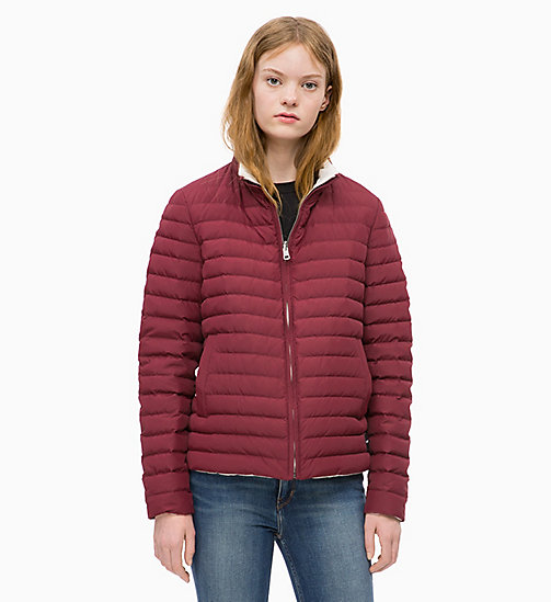 CALVIN KLEIN JEANS Reversible Down Puffer Jacket - TAWNY PORT / EGRET - CALVIN KLEIN JEANS JACKETS - main image
