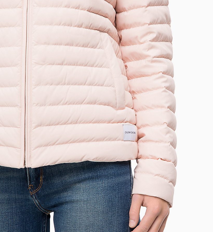 CALVIN KLEIN JEANS Reversible Down Puffer Jacket - OATMEAL - CALVIN KLEIN JEANS WOMEN - detail image 2
