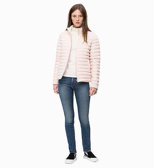 CALVIN KLEIN JEANS Reversible Down Puffer Jacket - CHINTZ ROSE / EGRET - CALVIN KLEIN JEANS JACKETS - detail image 1
