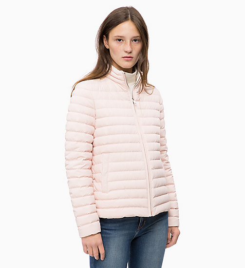 CALVIN KLEIN JEANS Reversible Down Puffer Jacket - CHINTZ ROSE / EGRET - CALVIN KLEIN JEANS NEW IN - main image