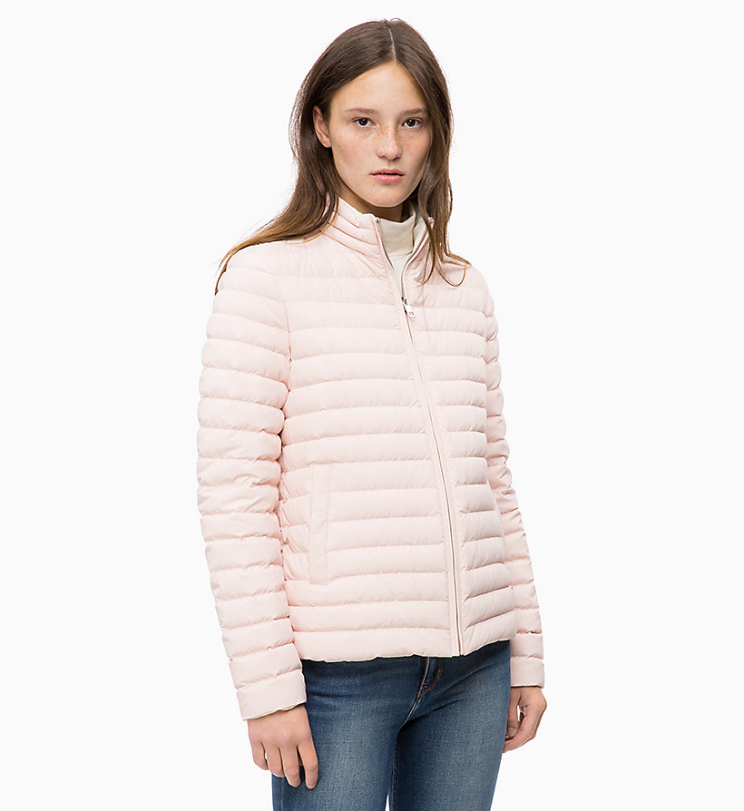 CALVIN KLEIN JEANS Reversible Down Puffer Jacket - OATMEAL - CALVIN KLEIN JEANS WOMEN - main image