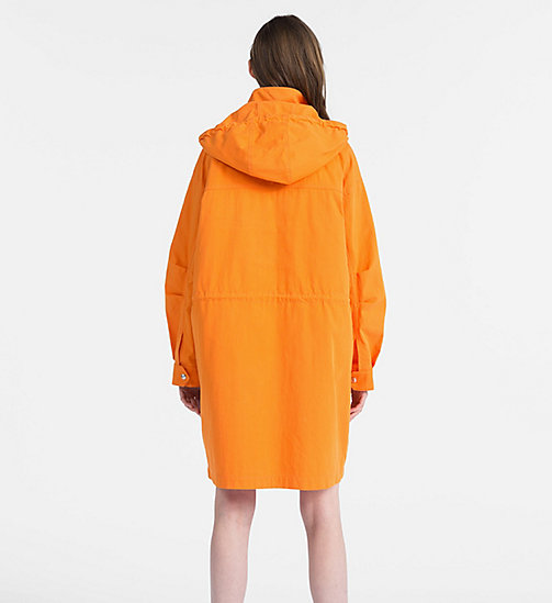 CALVIN KLEIN JEANS Cotton Twill Padded Parka - ORANGE TIGER 16-1358 TCX - CALVIN KLEIN JEANS COATS - detail image 1