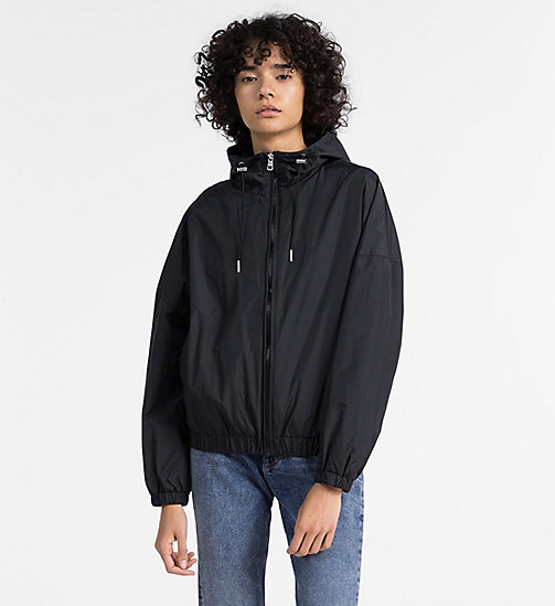 CALVIN KLEIN JEANS Hooded Windbreaker Jacket - CK BLACK - CALVIN KLEIN JEANS CLOTHES - main image