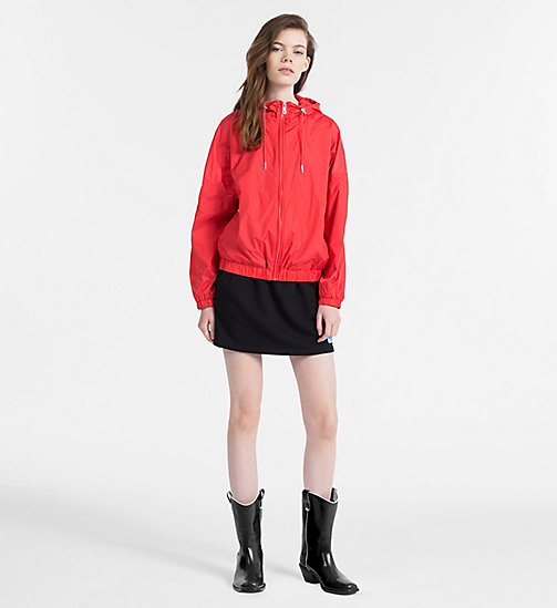 CALVIN KLEIN JEANS Hooded Windbreaker Jacket - TOMATO - CALVIN KLEIN JEANS NEW IN - detail image 1