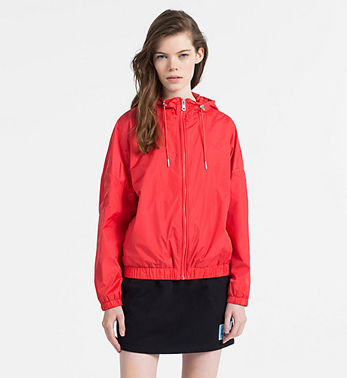 CALVIN KLEIN JEANS Hooded Windbreaker Jacket - TOMATO - CALVIN KLEIN JEANS NEW IN - main image