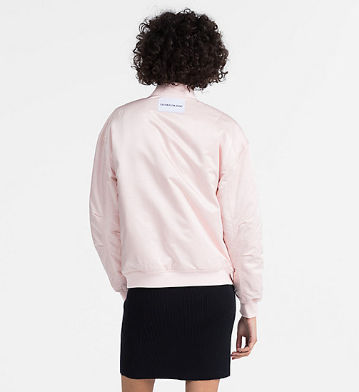 CALVIN KLEIN JEANS Padded Sateen Bomber Jacket - CHINTZ ROSE -  CLOTHES - detail image 1