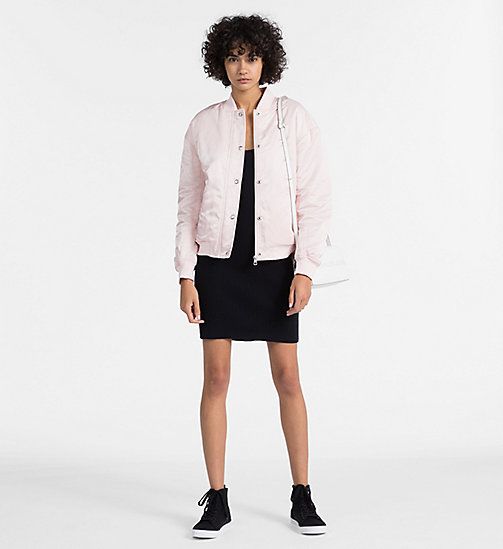 CALVIN KLEIN JEANS Padded Sateen Bomber Jacket - CHINTZ ROSE - CALVIN KLEIN JEANS CLOTHES - detail image 1