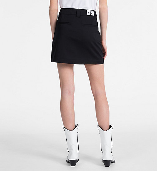 CALVIN KLEIN JEANS A-line Mini Skirt - CK BLACK - CALVIN KLEIN JEANS NEW IN - detail image 1