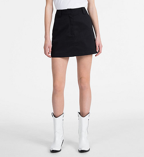 CALVIN KLEIN JEANS A-line Mini Skirt - CK BLACK - CALVIN KLEIN JEANS NEW IN - main image