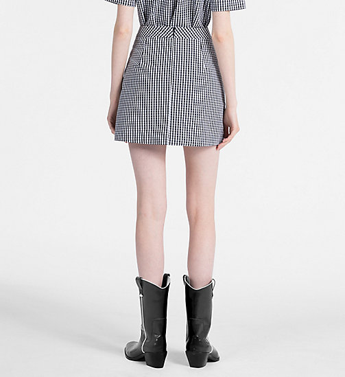 CALVIN KLEIN JEANS A-Line Gingham Mini Skirt - CK BLACK / BRIGHT WHITE - CALVIN KLEIN JEANS CLOTHES - detail image 1
