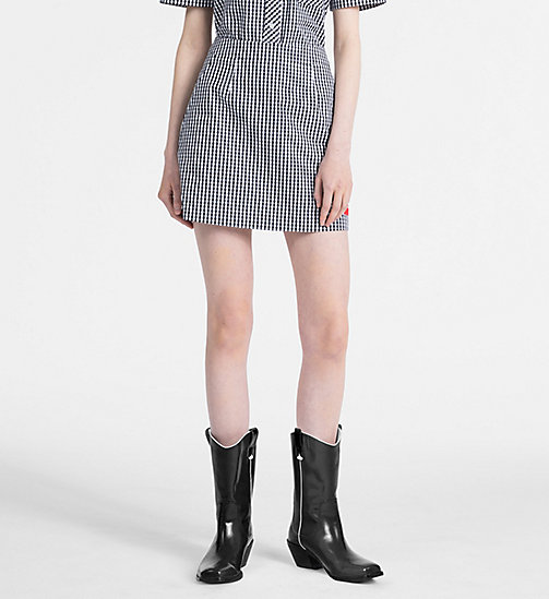 CALVIN KLEIN JEANS A-Line Gingham Mini Skirt - CK BLACK / BRIGHT WHITE - CALVIN KLEIN JEANS NEW IN - main image