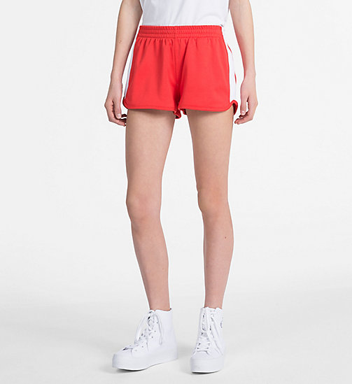 CALVIN KLEIN JEANS Side-Stripe Track Shorts - TOMATO - CALVIN KLEIN JEANS CLOTHES - main image