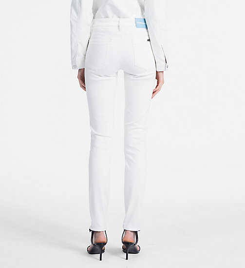 CALVIN KLEIN JEANS Stretch Mid Rise Skinny Trousers - BRIGHT WHITE - CALVIN KLEIN JEANS NEW IN - detail image 1