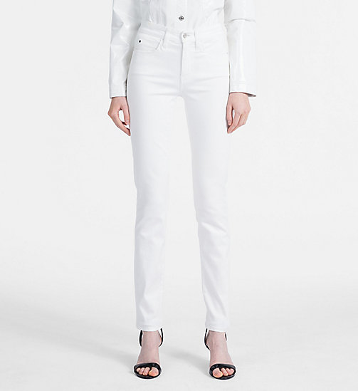 CALVIN KLEIN JEANS Stretch Mid Rise Skinny Trousers - BRIGHT WHITE - CALVIN KLEIN JEANS NEW IN - main image