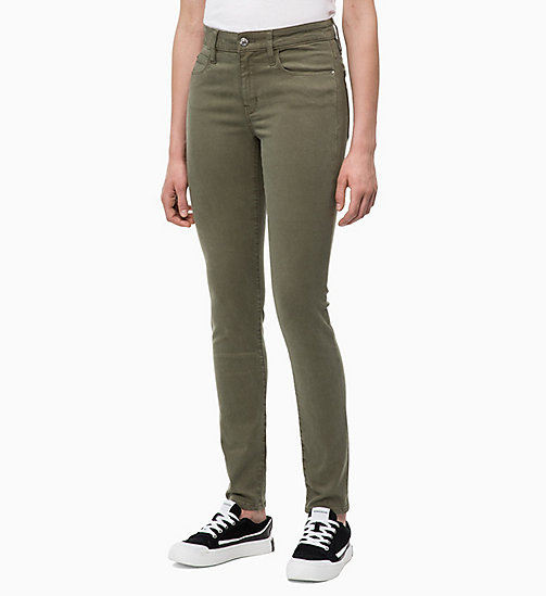 CALVIN KLEIN JEANS Mid Rise Skinny Trousers - GRAPE LEAF - CALVIN KLEIN JEANS FALL DREAMS - main image