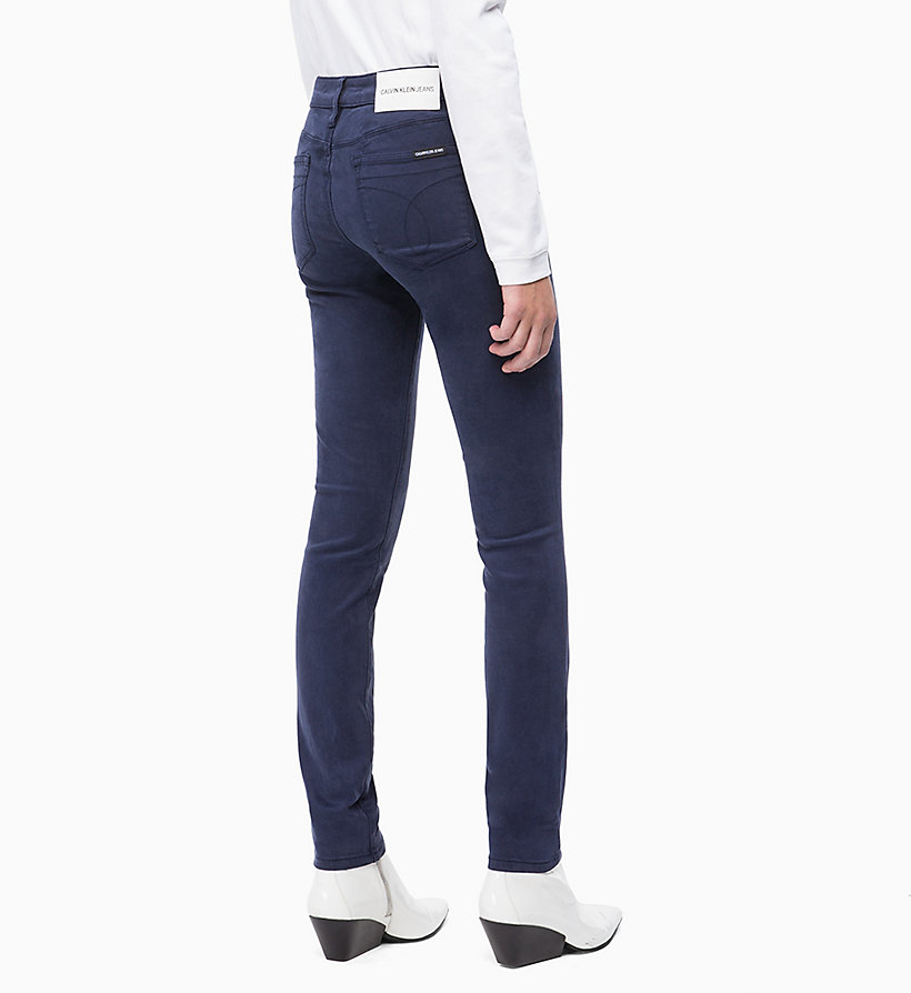 CALVIN KLEIN JEANS Mid Rise Skinny Trousers - BRIGHT WHITE - CALVIN KLEIN JEANS WOMEN - detail image 1