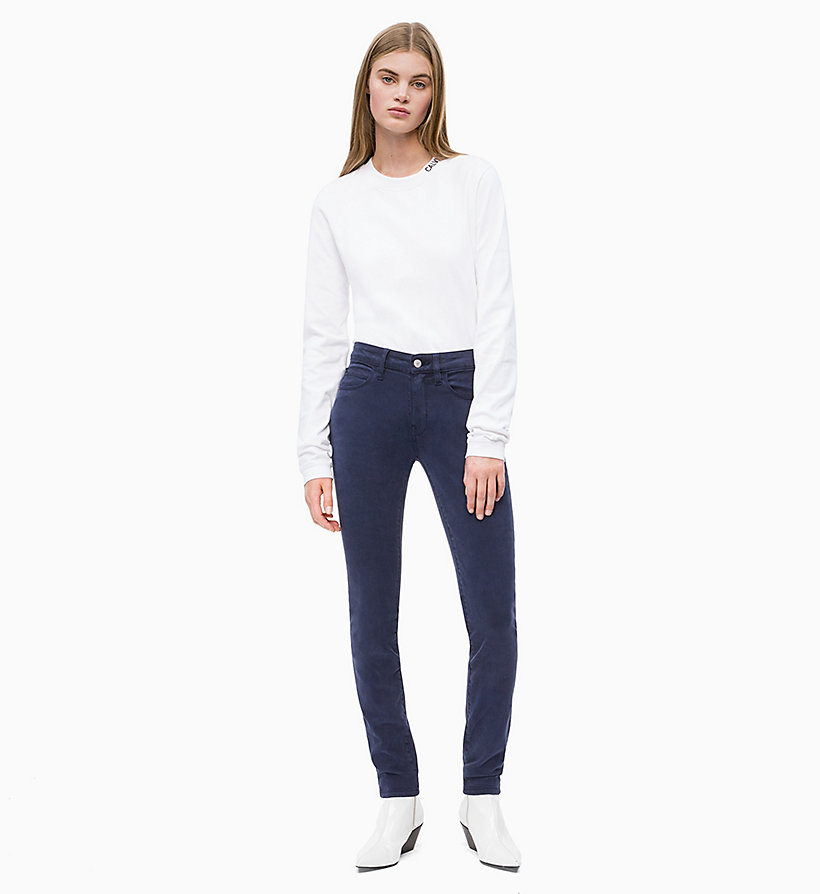 CALVIN KLEIN JEANS Mid Rise Skinny Trousers - BRIGHT WHITE - CALVIN KLEIN JEANS WOMEN - detail image 3
