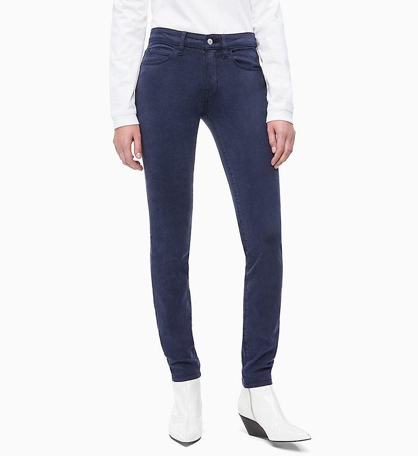 CALVIN KLEIN JEANS Mid Rise Skinny Trousers - BRIGHT WHITE - CALVIN KLEIN JEANS WOMEN - main image