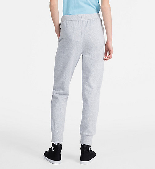 CALVIN KLEIN JEANS Logo Jogging Pants - LIGHT GREY HEATHER - CALVIN KLEIN JEANS TROUSERS - detail image 1