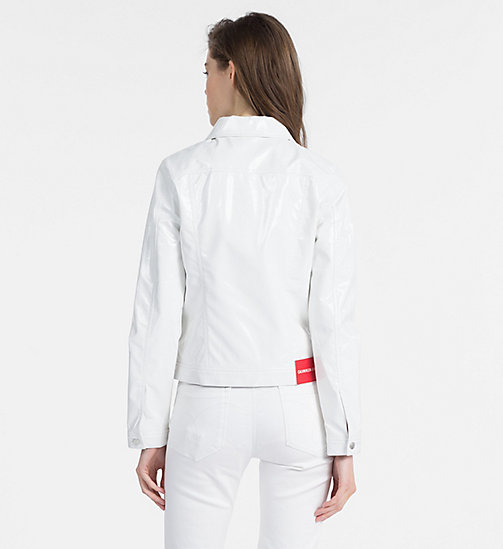 CALVIN KLEIN JEANS Vinyl Trucker Jacket - BRIGHT WHITE - CALVIN KLEIN JEANS NEW IN - detail image 1