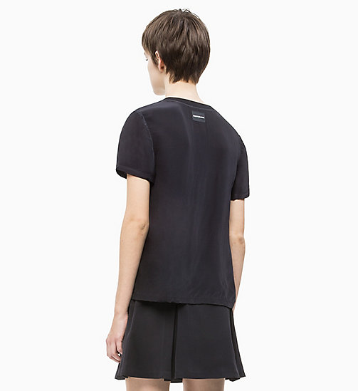 CALVIN KLEIN JEANS Crepe Short Sleeve Top - CK BLACK - CALVIN KLEIN JEANS NEW IN - detail image 1