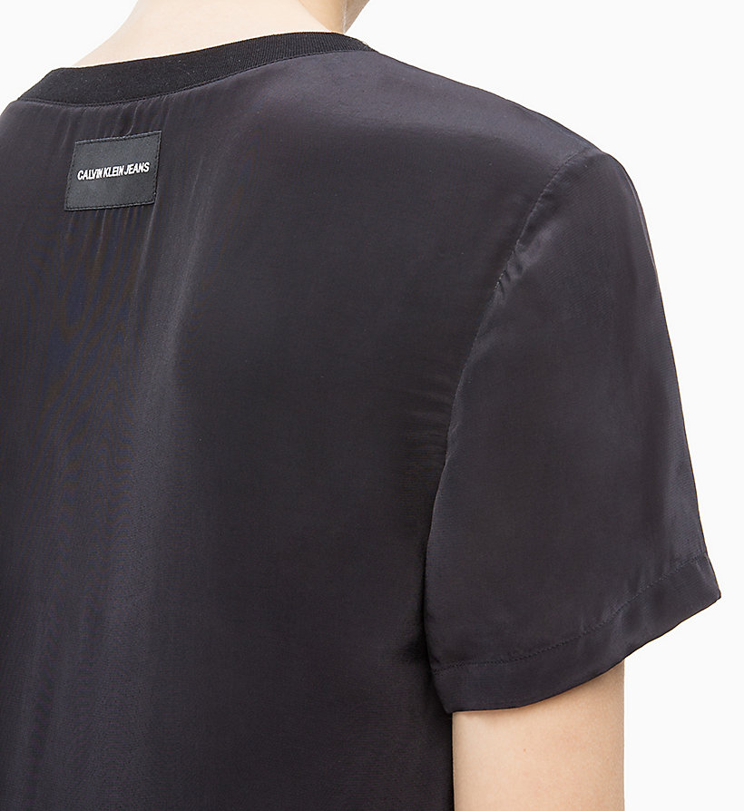 CALVIN KLEIN JEANS Crepe Short Sleeve Top - TAWNY PORT - CALVIN KLEIN JEANS WOMEN - detail image 2