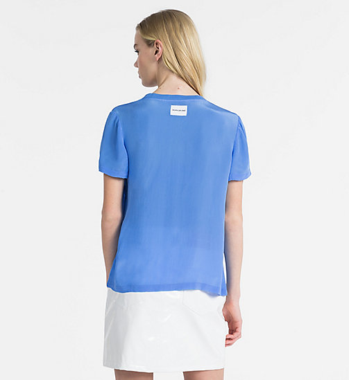 CALVIN KLEIN JEANS Crepe Short-Sleeve Top - REGATTA - CALVIN KLEIN JEANS NEW IN - detail image 1
