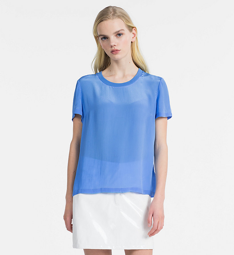CALVIN KLEIN JEANS Crepe Short Sleeve Top - CHINTZ ROSE - CALVIN KLEIN JEANS WOMEN - main image