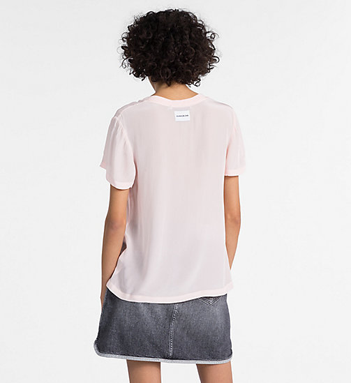 CALVIN KLEIN JEANS Crepe Short-Sleeve Top - CHINTZ ROSE - CALVIN KLEIN JEANS NEW IN - detail image 1