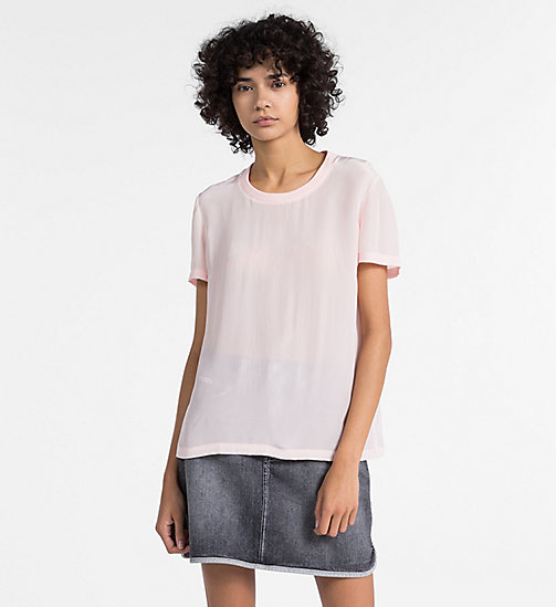CALVIN KLEIN JEANS Crepe Short-Sleeve Top - CHINTZ ROSE - CALVIN KLEIN JEANS NEW IN - main image