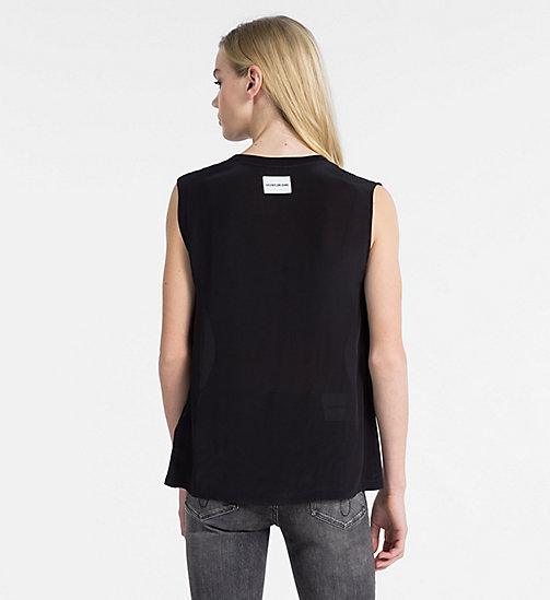 CALVIN KLEIN JEANS Crepe Sleeveless Top - CK BLACK - CALVIN KLEIN JEANS NEW IN - detail image 1