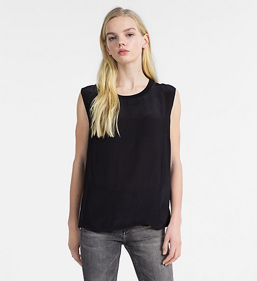 CALVIN KLEIN JEANS Crepe Sleeveless Top - CK BLACK - CALVIN KLEIN JEANS NEW IN - main image