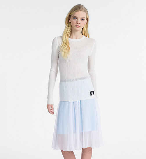 CALVIN KLEIN JEANS Cotton Silk Rib-Knit Jumper - EGRET -  CLOTHES - main image