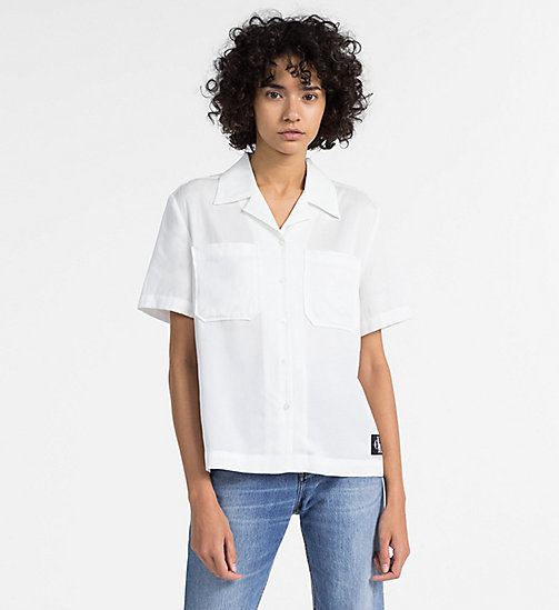 CALVIN KLEIN JEANS Short-Sleeve Shirt - EGRET -  CLOTHES - main image
