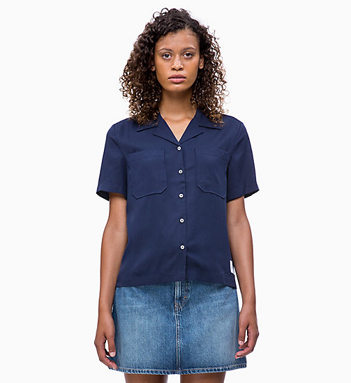 CALVIN KLEIN JEANS Short-Sleeve Shirt - PEACOAT - CALVIN KLEIN JEANS CLOTHES - main image