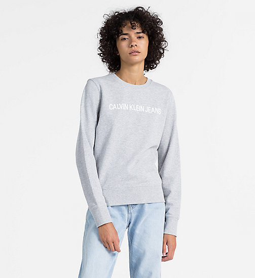 CALVIN KLEIN JEANS Logo Sweatshirt - LIGHT GREY HEATHER - CALVIN KLEIN JEANS NEW IN - main image