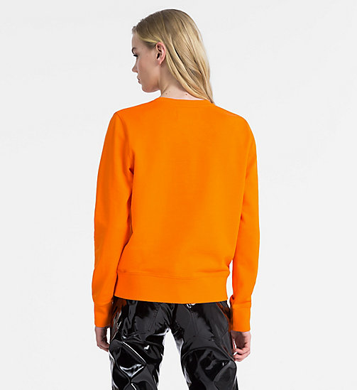 CALVIN KLEIN JEANS Logo Sweatshirt - ORANGE TIGER 16-1358 TCX - CALVIN KLEIN JEANS NEW IN - detail image 1