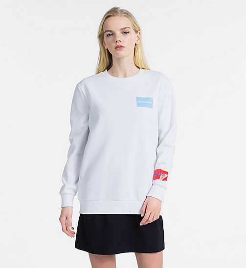 CALVIN KLEIN JEANS Multi Logo Sweatshirt - BRIGHT WHITE - CALVIN KLEIN JEANS NEW IN - main image