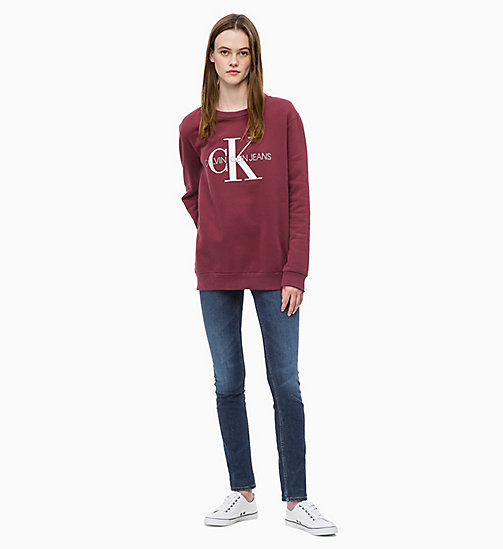 CALVIN KLEIN JEANS Logo Sweatshirt - TAWNY PORT - CALVIN KLEIN JEANS ALL GIFTS - detail image 1