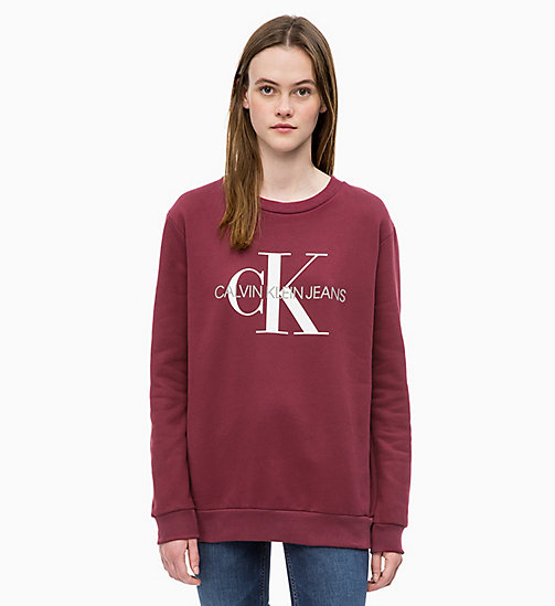CALVIN KLEIN JEANS Logo Sweatshirt - TAWNY PORT - CALVIN KLEIN JEANS ALL GIFTS - main image