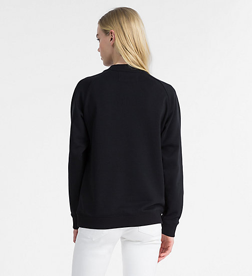 CALVIN KLEIN JEANS Vinyl Geo Shape Sweatshirt - CK BLACK -  NEW IN - detail image 1