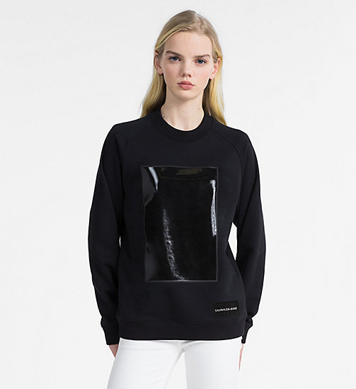 CALVIN KLEIN JEANS Vinyl Geo Shape Sweatshirt - CK BLACK -  NEW IN - main image