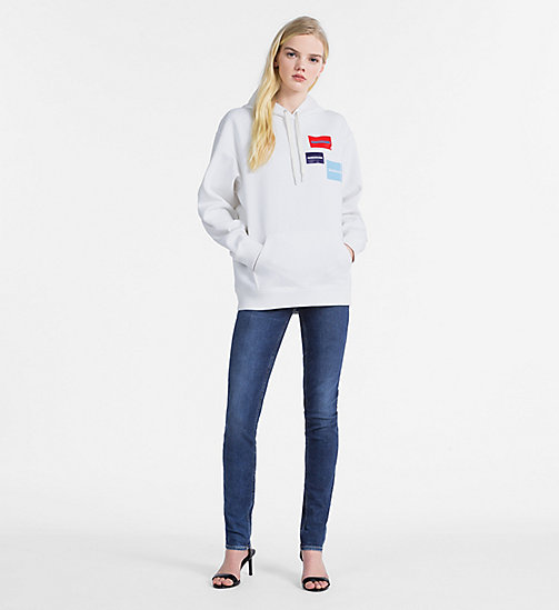 CALVIN KLEIN JEANS Multi Logo Hoodie - BRIGHT WHITE -  NEW IN - detail image 1